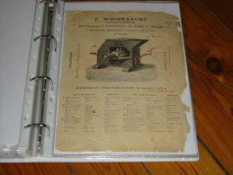 Agriculture BROYEUR Morel MECANICIEN 50 VENUE ALSACE GRENOBLE1887 - Pubblicitari
