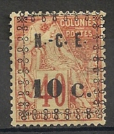 Nouvelle Calédonie. 1891. N° 11. Neuf (*). Léger Aminci De Charnière - Ongebruikt
