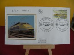 FDC- TGV Postal - 69 Lyon - 6.9.1984 - 1er Jour, - FDC