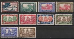 Nouvelle Calédonie. 1939. N° 180-189. Neuf * MH - Nieuw-Caledonië