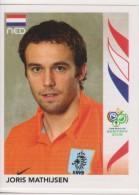 PANINI FIFA World Cup Germany 2006 Football Sticker JORIS MATHIJSEN Team NETHERLANDS - Panini