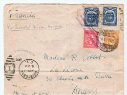 "Colombie:courrier Aerien  Colombie/france 1930.""via Cristobal.miami.new.york. "" - Colombie"