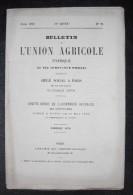 Bulletin De L'Union Agricole D'Afrique Au Sig (Province D'Oran) – N°75 – 1879 – Compte Rendu De L'Assemblée Générale - 1850 - 1899