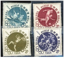 Giappone - 1964 - Nuovo/new - Olimpiadi - Mi N. 863/66 - Unused Stamps
