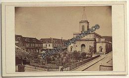 Photo Cdv XIX Eglise Church 1870 FORT DE FRANCE Martinique 972 France Antilles Amérique - Oud (voor 1900)