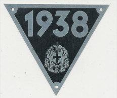 TARGHETTA FASCISTA DA APPORRE A CARRETTO TRAINATO DA FORZA ANIMALE 1938 - Transporto