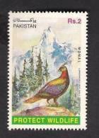 1997 Pakistan Wildlife, Birds, Monal Pheasant, Mountains 1v MNH - Pakistan