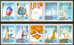 "1986 Isole Solomone ""Coppa America 1987"" Regate Races Courses Barche Boats Bateaux Set MNH** -Fiog59 - Isole Salomone (1978-...)"