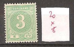 Surinam 20 * Côte  8 € - Surinam ... - 1975