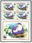 2002 Aitutaki Uccelli Birds Vogel Oiseaux Set 4 Block MNH** -Fiog60 - Aitutaki