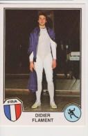 PANINI FENCING STICKER FRENCH Athlete DIDIER FLAMENT Sport Superstars Series 1982 - Edizione Italiana
