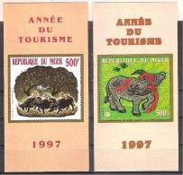 ** NIGER 2  SHEET MNH ANNO DEL TURISMO - New Year