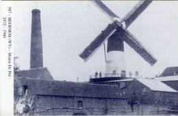 BEERNEM (W.Vl.) - Molen/moulin - Blauwe prentkaart Ons Molenheem van de gewezen Molen Depr� in werking. Prachtfoto!