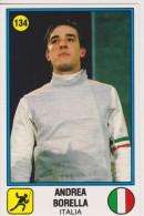 PANINI Double-front FENCING / FOOTBALL Card Supersports Series 1988 ANDREA BORELLA And CLAUDIO CANIGGIA - Panini