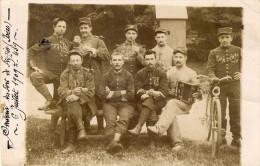 CARTE PHOTO ; SOUVENIR DU FORT DE FEYZIN (Isère) 6 JUILLET  1909 - France