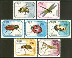 1988 Kampuchea Fauna Insetti Insects Insectes Set MNH** -Qq1 - Kampuchea