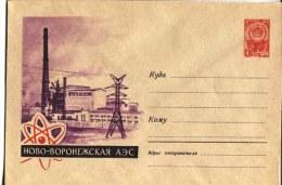 USSR 1963   Postal Stationery Cover  Novo-Voronezh Nuclear Power Plant - Atomo