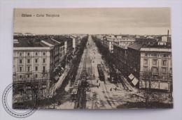 Postcard Italy - Milano - Corso Sempione - Old Trams - Unposted - Milano (Milan)