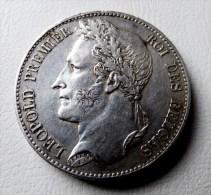 5 FRANCS 1849 LEOPOLD I ARGENT SILVER POIDS 25 GR HAUTE QUALITE - 1831-1865: Léopold I
