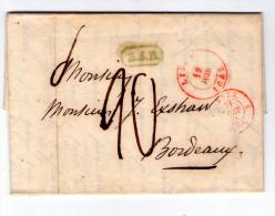 LAC De Liege (Belgique) Pour Bordeaux (France) De 1845 - 7 Scan