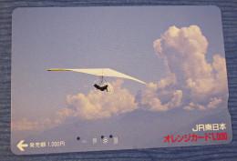 Telefonkarte Asien Drachenflieger Segler Flugzeug Telephone Card - Vliegtuigen