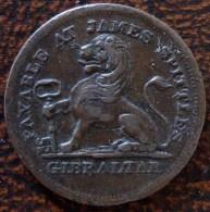 (J) GIBRALTAR: 2 Quartos 1820 VF+ (567)  XXRARE - Gibraltar