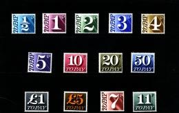 GREAT BRITAIN - 1970-75  POSTAGE DUES  DECIMAL  SET MINT NH - Tasse