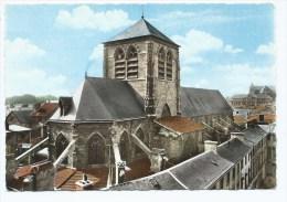 02@ CPSM COLORISEE CHALONS SUR MARNE, EGLISE ST SAINT ALPIN, MARNE 51 - Châlons-sur-Marne