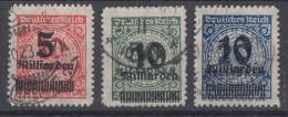 DR Minr.334B-336B Gestempelt - Deutschland