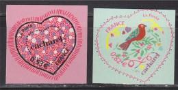 Saint Valentin Coeur 2005 Autocollant 0.53€ Et 0.82€ Autoadhésif N°50 Et 51 Du Couturier Cacharel, Neufs La Paire - Adhesive Stamps
