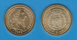 CARLOS III  8 ESCUDOS   1.762  ORO   MÉXICO   SC/UNC     Réplica       T-DL-10.866 - [ 1] …-1931 : Royaume
