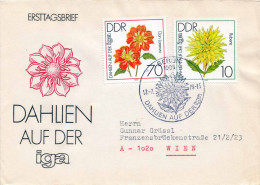 DDR 1979 - FDC 2435+2440 Dahlien Auf Der IGA - [6] Democratic Republic