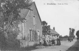 Crucheray Ecole Des Filles  Un Petit Manque Bas Droit - Autres Communes