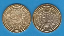 CARLOS II   8 ESCUDOS   ORO  1.687   SEGOVIA   SC/UNC     Réplica       T-DL-10.879 - [ 1] …-1931 : Royaume