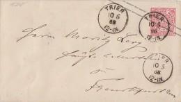 NDP GS-Umschlag 1 Gr. Trier 10.6.68 Gel. Nach Frankfurt - Norddeutscher Postbezirk