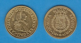 CARLOS  III   8  ESCUDOS   ORO  1.762   LIMA   SC/UNC     Réplica       T-DL-10.886 - [ 1] …-1931 : Royaume