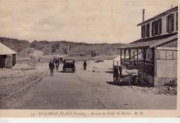 St-Girons-Plage..animée..Arrivée De Vielle-St-Girons..voiture..charette - Autres Communes