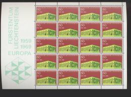 Liechtenstein ** 507 CEPT   Kleinbögen Ungefaltet - Unused Stamps