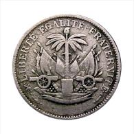 1904, HAITI, 5 CENTIMES COIN, RARE OBVERSE! LARGE # 5 AND NO BUST, *SEE PHOTOS* - Haiti