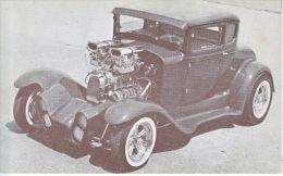 "HOT  ROD  1931  FORD  MODEL  ""A""   1960´s  CORVETTE  POWERED  READ  BACKSIDE - Postcards"