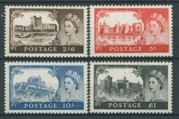 BL5-101 GREAT BRITAIN 1959 YV 351-354 DLR ISSUE, CASTLES, CHATEAUX MNH, POSTFRIS, NEUF**. - Ongebruikt