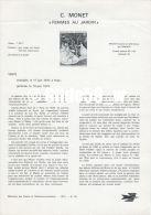 Document Philatélique Officiel Du Ministère Des Postes Et Télécommunications - C. MONET - FEMMES AU JARDIN - Documents Of Postal Services
