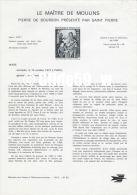 Document Philatélique Officiel Du Ministère Des Postes Et Télécommunications - LE MAÎTRE DE MOULINS - Pierre De Bourbon - Documents Of Postal Services