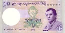 BHOUTAN   10  Ngultrum   Series 2006   Pick 29 A            ***** BILLET  NEUF ***** - Bhoutan