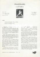Document Philatélique Officiel Du Ministère Des Postes Et Télécommunications - FRAGONARD - L´ETUDE - Documents Of Postal Services