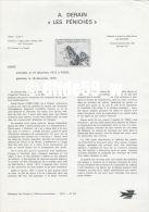 Document Philatélique Officiel Du Ministère Des Postes Et Télécommunications - A. DERAIN - LES PENICHES - Documents Of Postal Services