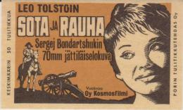 Amazing Movie Set 4 Small FINNISH Trading Cards 1970's Cinema Posters In Matchboxes - Sonstige