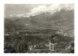 Cp, 38, Grenoble, Le Téléférique Surplombant La Ville - Grenoble