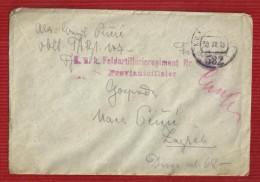 WWI.COVER,1918.Y-K.U.K.MI LITARY POST-FELD POST STAMP,582,SENT TO CROATIA ZAGREB - 1850-1918 Empire