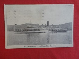 Str Robert Fulton  Hudson Day Line 1921  Stamp & Cancel  Ref 1285 - Steamers